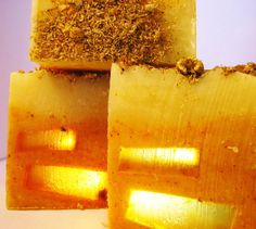 yellow bathroom / citronella cedar chamomile handmade shaving soap