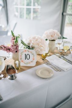 Table Number Design: @palendromeproject www.fleurevents.com image: Yaritza Colon Photography