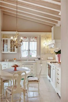 like this look ... notice stove ... countertop a little higher above stove ... curtains ... just everything