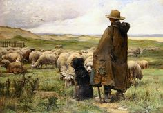 The Shepherd, by Julien Dupré (1851-1910)