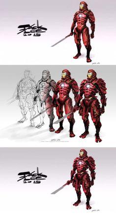 iron-man-samurai.jpg (580×1073)