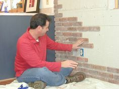 how to install a brick wall inside the house