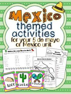 Mexico and Cinco de Mayo Word Searches | Party Ideas ...