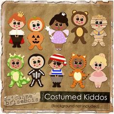 Costumed Kiddos Element Pack