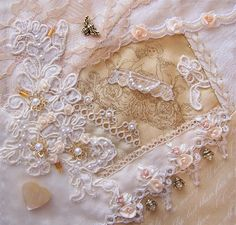 I ❤ crazy quilting, beading & embroidery . . . Honey Bee's Bliss: Friendship Crazy Quilt block