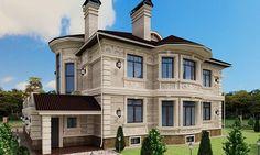3D-визуализация экстерьера коттеджа в элитном посёлке Гринфилд - миниатюра 3 Sims House Plans, Good House, Modern Contemporary, Villa, Exterior, House Design, How To Plan, Mansions, House Styles