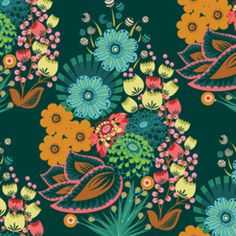 Anna Marie Horner - Loulouthi Velveteen Collection - Summer Totem in Emerald as seen at Hawthorne Threads