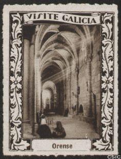 Ourense : [Viñeta con imagen de naves laterales con pasillo de acceso a la capilla de la Catedral de Ourense] / [fotógrafo, Luis Casado Fernández]. http://aleph.csic.es/F?func=find-c&ccl_term=SYS%3D001528676&local_base=MAD01