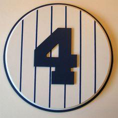 Retired Number 4 Plaque Yankees Lou Gehrig - large