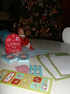 Elf on the Shelf leaves everything to write letters to Santa Dec 3rd