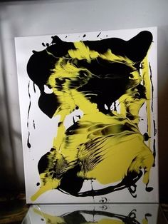 MUSK YAI MODERN FINE ABSTRACT PAINTING EXPRESSIONISM SIGNED CANVAS 16x20 ooak #Abstract