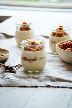 Caramel and nuts (along with warm spices) are the flavours of fall and winter to me. Warm, comforting, earthy, and cozy flavours that e. Best Dessert Recipes, Apple Recipes, Fun Desserts, Dessert Food, Mousse, Panna Cotta, Baking And Pastry, Recipe Of The Day, Deserts