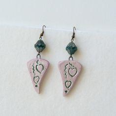 Mothers Day Earrings Heart Earrings Vintage Retro Romantic