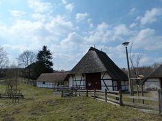 Vorbereitungen für einen Aquarellkurs in Schwerin | reetgedeckte Fachwerkhäuser in Mueß (c) Frank Koebsch (1)
