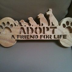 Wooden adopt a friend wall hanging by Fine Crafts on Opensky