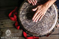 Frame Drums, Shamanic Drums or Hide Drums are one of the oldest known musical instruments. Thousands of years ago they were probably made from grain sieves, with hide stretched across the top. Frame drums are a particular style of drum which has a larger diameter, or skin head, than depth.   They are known by many names and are found in many diverse cultures, eg: the Medicine Drum, Hoop Drum or Shamans Drum of the Americas, the Irish Bodhran, the Egyptian tar, the Pandereta of Puerto Rica…