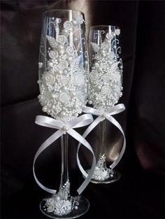 Beautiful wedding glass