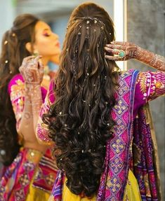 Saree Hairstyles, Open Hairstyles, My Hairstyle, Wedding Hairstyles For Long Hair, Ponytail Hairstyles, Bride Hairstyles, Trending Hairstyles, Hairstyle Ideas, Bridal Hairstyle Indian Wedding
