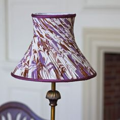 Phoenix Hand Marbled Twisted Pleat Silk Lampshade