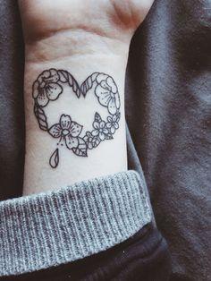 Flower heart tattoo idea from tumblr