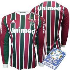 cda801c97f762 Camisa Fluminense M L I 2013 - 2014 Adidas Tricolor - Personalize Patch CBF  Grátis