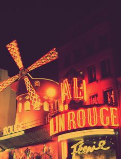 A stop off at the Moulin Rouge, Paris for a cheeky shot. How lovely...