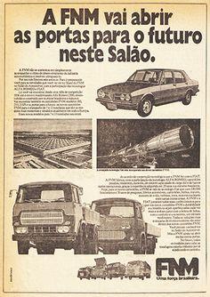 Esta peça publicitária de novembro de 1974 já mostra claramente a imbricada relação entre Alfa Romeo, Fiat e FNM.