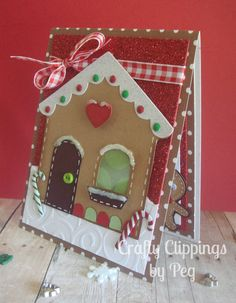 Christmas Card Gingerbread House by CraftyClippingsbyPeg on Etsy