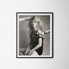 Kate Moss Photography Poster Wall Art Digital by PrintClub on Etsy