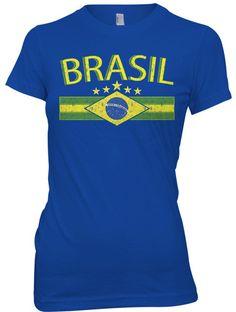 Brasil World CUP Soccer Football Girls T Shirt Brazil | eBay