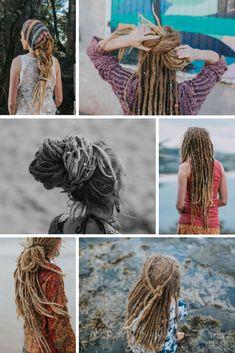 Dreadlock Beads and Accessories Australia Blonde Dreadlocks, Dreads Girl, Locs, Natural Dreads, Natural Hair Updo, Dreads Styles, Hair Styles, Female Dreads, Dreadlock Beads