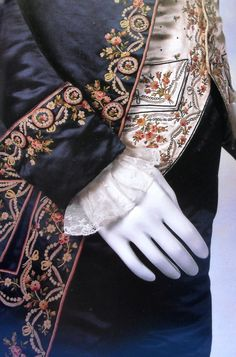 Highly embellished suits for men were common. They were sported in bold colors, expensive fabrics, and elaborate embroidery.