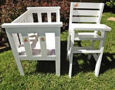 Doll Crib and High Chair, Modified   Do It Yourself Home Projects from Ana White