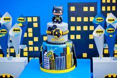 tarta fondant superheroe batman