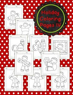WOW!  Holiday coloring pages.  $1