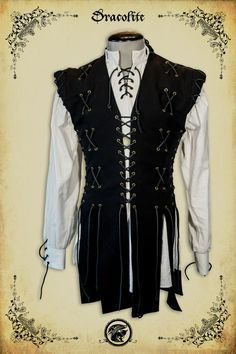 Medieval clothing Knight jacket clothing medieval Victorian costume leater on Etsy, $187.84