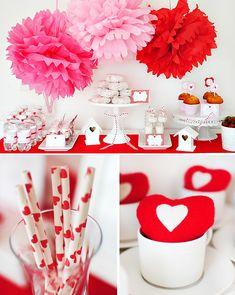 Valentine's Brunch. . .but with a yogurt parfait bar, quiche, cinnamon rolls instead of donuts. . .