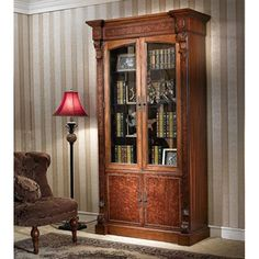 Infinity Furniture Import LV-552-2 Louis XVI Combined Two-Door Bookcase This Bookcase by Infinity Furniture Import is offered in an anti-padeuk finish. 1800