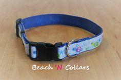 Sea Turtles Dog Collar by Beachcollars on Etsy