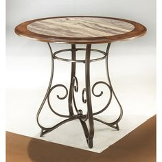 The Nola Counter Height Dining Room Table With 4 24 Barstools From Ashley