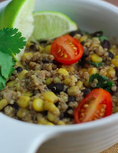 Quinoa and Black Beans is a classic dish that clean eaters will really enjoy!  We love this as an afternoon snack, or a quick meal when we are on the go!