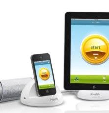 First ever Blood Pressure Monitoring System for iPod touch, iPhone, and iPad. iHealth turns your iPhone into a powerful blood pressure monitor. It includes a diary for tracking BP measurements taken by the iHealth BP Dock.