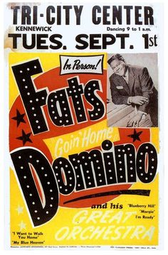 Fats Domino concert poster. (Ted's cousin)