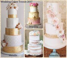 Tendencias en Pasteles de Boda para el 2017!....mas en www.facebook.com/SusanitasParty ó instagram @ susanitasparty  #wedding #weddingcakes #cakes2017 #tendencias #novia #bodas #matrimonio #casamiento #cakes #tortas #casamiendo #bride #talentovenezolano #susanitasparty