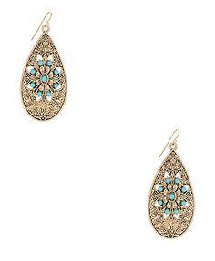 sunburst teardrop earrings