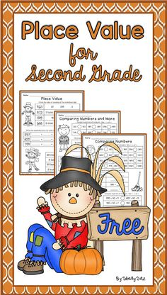 Place Value for second grade-FREE Fall Math for grade - Mathe Ideen 2020 Math Place Value, Place Values, Place Value Worksheets, Free Worksheets, 2nd Grade Classroom, Math Classroom, Classroom Ideas, Math Stations, Math Centers