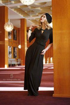 Miss Candyfloss gigi black jumpsuit 133 10 13571 20150925 2 Vintage Inspired Fashion, 1940s Fashion, Fashion 2020, Vintage Fashion, Mode D'inspiration Vintage, Retro Mode, Vintage Style, Retro Style, Retro Vintage