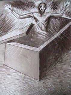 radvan.drawing Christ, Decorative Boxes, Drawings, Home Decor, Sketches, Homemade Home Decor, Sketch, Interior Design, Drawing