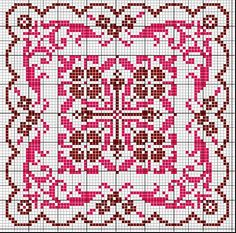 Carré élégant cross-stitch - free