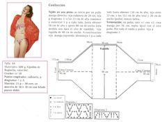 Delicacies in crochet Gabriela: Shawl with sleeves